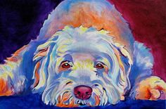 Soft Print featuring the painting Soft Coated Wheaten Terrier - Guinness by Alicia VanNoy Call