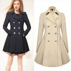 S-XXL Plus Size Trench Winter Coat for Women Double Breasted Slim Windbreaker Female Desigual Long Coat Femme Ladies Trenchcoat Long Parka Coats, Long Trench Coat, Trench Jacket, Women's Coats, Wool Coats, Long Jackets, Outerwear Jackets, Coats For Women, Jackets For Women