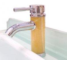 Yellow Jade Vessel Sink Bathroom Vanity Faucet