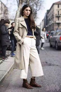 Fashion Outfits: Windbreaker & Wide Legs Pants