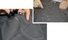 Blusa bordada com perolas