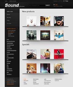 Sound Music VirtueMart Templates by Hermes