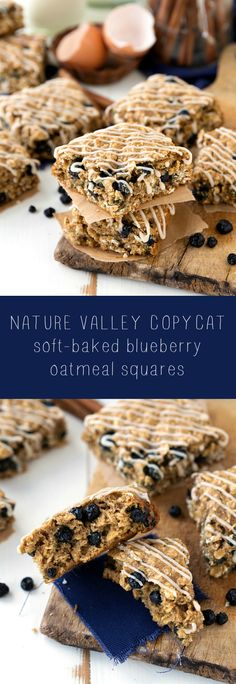 A simple copycat of the Nature Valley Soft-Baked Blueberry Oatmeal Squares. The perfect on-the-go snack the whole family will enjoy!