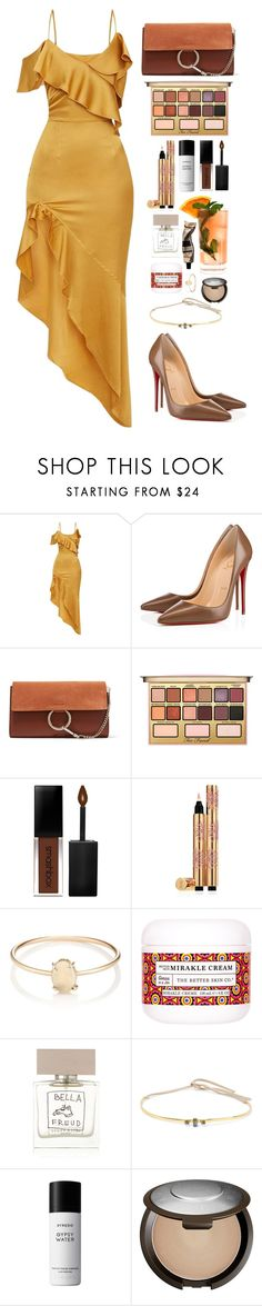 """Untitled #506"" by emmeleialouca on Polyvore featuring Christian Louboutin, Chloé, Kandee, Smashbox, Yves Saint Laurent, Loren Stewart, The Better Skin Co., Bella Freud, Fresca and Cornelia Webb"