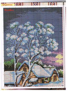 Gallery.ru / Фото #10 - 303 - Yra3raza Cross Stitch House, Cross Stitch Charts, Cross Stitch Patterns, Felt Embroidery, Cross Stitch Embroidery, Cross Stitch Landscape, Cross Stitch Flowers, Stitch 2, Christmas Cross