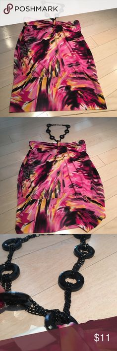 Colorful Club Top / Dress size L Can be worn as a top or dress depending on your body :) Wet Seal Tops Blouses