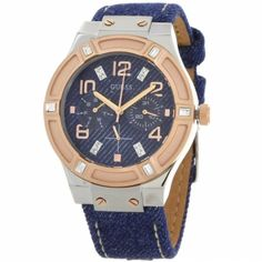The fashion-forward and trendsetting GUESS by Marciano (also known as GUESS?) brand offers a beautiful plethora of watches for men and women. The brand's passion for fashion has in Leather Box, Black Leather, Atm, Rose Gold Watches, Guess By Marciano, Cool Things To Buy, Stuff To Buy, G Shock, Bracelet Watch