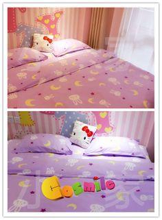 Sailor Moon Cosplay Costume Tsukino Usagi Moon 4pc Bed Sheet Set King Size Gift