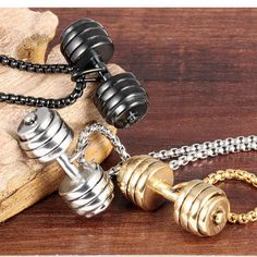 Wholesale 2016 New Fashion Stainless Steel Dumbbell Pendant Necklace Diy Jewelry, Gold Jewelry, Jewelry Necklaces, Jewellery, Men Necklace, Arrow Necklace, Pendant Necklace, Gold Fashion, Fashion Jewelry