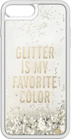 kate spade new york - Clear Liquid Glitter Case for Apple® iPhone® 7 Plus - Gold/Glitter is My Favorite Color - AlternateView1 Zoom