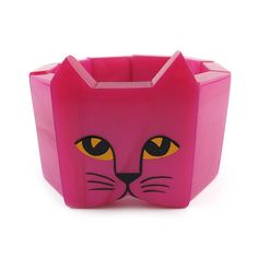 Pavone-Marie Christine Pavone Cat Head Stretch Bracelet Pink