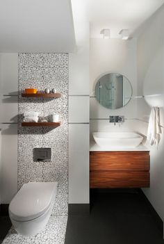 white bubble used as accent.  bathroom - modern - bathroom - other metro - Elad Gonen & Zeev Beech