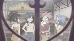 fairy tail, natsu dragneel, levy, gray fullbuster, cana