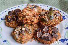 Fursecuri cu ovaz si banane - cookies fara zahar | Savori Urbane Muffin, Sweets, Cookies, Breakfast, Desserts, Food, Kitchenaid, Drinks, Diet