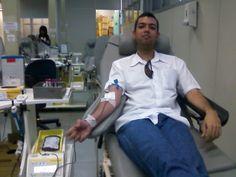 No HemoRio fazendo minha 10ª doação espontânea de sangue.
