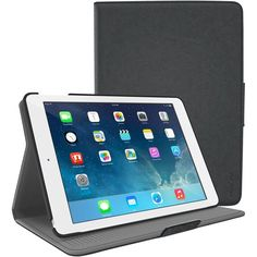 RooCase - Orb Folio Protective Case for Apple® iPad® Air and iPad Air 2 - Black