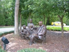 Many life size bronze statutes through out The Woodlands to tour with many exciting stories.