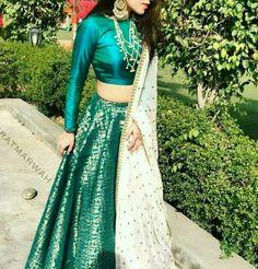 Buy Online Punjabi Wedding Lehenga Designer Collection Call/ WhatsApp us 77164 Indian Lehenga, Indian Gowns, Indian Attire, Lehenga Choli, Sari, Indian Wear, Brocade Lehenga, Bridal Lehenga, Choli Designs