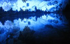 Reed Flute Cave is 180 millions old and it is located in the Guilin city. The name eas given after the green reeds which grows at the entrance. The reed was used to make flutes and whistles.