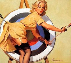 Gil Elvgren is an iconic American painter of pin up girls.ve gotten nostalgic and posted ten vintage pin up girl pictures from the that are particularly glamorous and seductive.re all by Gil Elvgren. Pin Up Vintage, Retro Pin Up, 50s Pin Up, Retro Vintage, Retro Art, Vintage Circus, Vintage Humor, Vintage Metal, Pinup Art