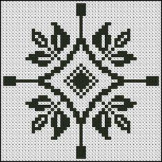 Jednofarebné vzory - Vyšívané obrazy a predlohy