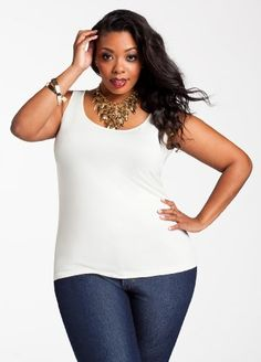 Ashley Stewart Women`s Plus Size Everyday Essentials Basic Knit Tank - Listing price: $9.50 Now: $6.89 + Free Shipping