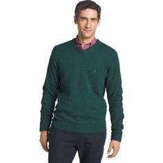 Men's IZOD Fieldhouse Regular-Fit V-Neck Sweater, Size: Medium, Dark Green
