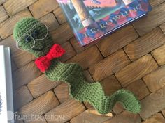 Bookworm Bookmark Crochet Pattern