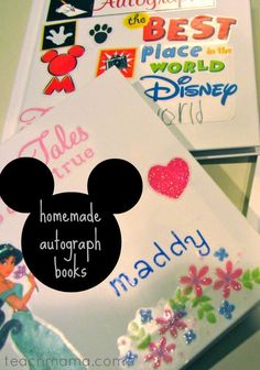 Still getting in that family vacation soon? If you are planning a trip to Disney, autograph books are a must! Help your kids make these homemade Disney autograph books before the big trip! #teachmama #disney #disneytrip #disneyworld #vacation #family #autograph #diy #familyfun #familyvacation #craftsforkids