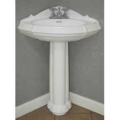 Small Corner Pedestal Sink : Pedestal sinks on Pinterest Pedestal Sink, Modern Vintage Bathroom ...