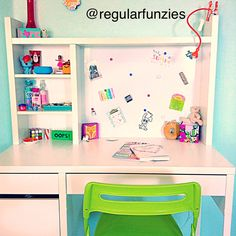 Here's my desk❤️Ikea Micke desk. Cool desk. Tween desk organization. Desk organization. Regular funzies.