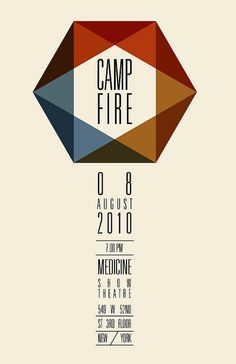 Camp Fire. Love this simple and beautiful invitation for something ordinary