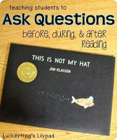 Okay, I have a new favorite reading lesson-- my asking questions lesson! When I got a chance to work with Scholastic last spring, they gave us a bag of swag that any teacher would love, and it included the book This Is Not My Hat by Jon Klassen, which. Library Lessons, Reading Lessons, Reading Activities, Reading Skills, Guided Reading, Reading Books, Reading Resources, Reading Process, Close Reading