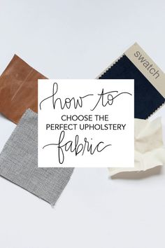 always rooney: How To Choose The Perfect Upholstery Fabric