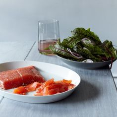 Mezcal-Cured Salmon with Sorrel Salad | Food & Wine