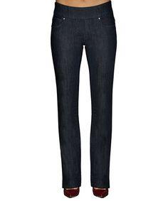 Dark Navy Bootcut Jeans #zulily #zulilyfinds