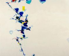 Sam Francis (United States, active 1923-1994). Towards Disappearance, 1957. Francis, long associated with Los Angeles, spent much of the 1950s in Paris. From there he embarked in 1957 on travels to various worldwide destinations, including Japan, where the elegance and beauty of the calligraphy inspired him greatly. Painted after his return to Paris, Towards Disappearance exemplifies the profound influence of Japanese art on Francis through its simplicity and the asymmetrical breakup of…
