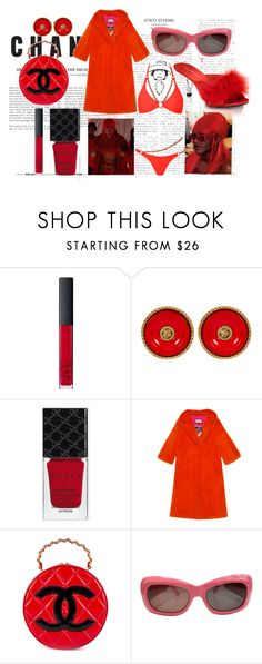 """""""Untitled #17"""" by diorbratz on Polyvore featuring Chanel, NARS Cosmetics, Gucci, Fabulicious, Versace and Agent Provocateur"""