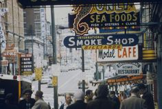 The history of neon in Vancouver reflects the history of the city itself. Vancouver Photos, Downtown Vancouver, Busa, Smoke Shops, Bus Stop, Newfoundland, Pacific Ocean, Old Pictures, British Columbia