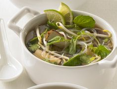 Vegetarian Pho (Vietnamese Noodle Soup) Recipe | Vegetarian TimesBeyond the antiviral, immune-boosting, and cholesterol-lowering properties of its shiitake mushrooms, this pho is loaded with garlic, which boasts antifungal, antibacterial, and antiviral benefits. Cinnamon also has antifungal and antibacterial attributes, while ginger is a pain-reducing anti-inflammatory that fights nausea.