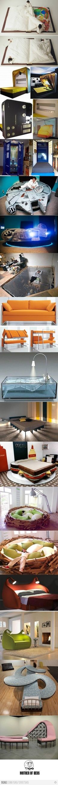 Gotta love it! Quirky, crazy and all around amazing beds.