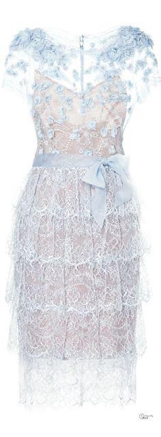 (via Marchesa ● Lace Cocktail Dress | ❤  ❤