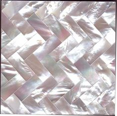 White Mother of Pearl Herringbone by Maybury Home  http://mayburyhome.com/page6.htm #GlitterGrout