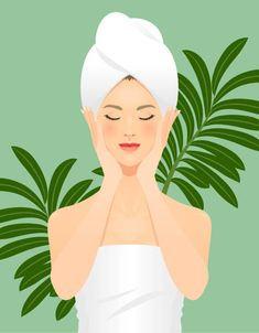 Skin care vector art illustration care illustration Young woman taking care of her face. Beauty Care, Beauty Skin, Natura Cosmetics, Skin Structure, Skin Care Spa, Beauty Illustration, Vector Art, Pop Art, Wallpaper