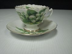 ANTIQUE WESTVILLE FINE CHINA CUP & SAUCER -  JAPAN - LILY OF THE VALLEY