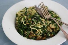 Spaghetti met kastanje-champignons