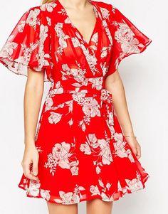 6ad9246805dda Discover Fashion Online Petite Summer Dresses, Tall Dresses, Asos Kimono,  Red V Neck