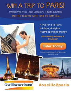 Win a trip to Paris! Photo Contest, Click for more details!