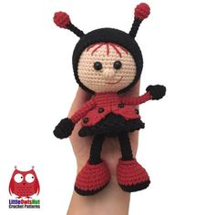 Doll in a Ladybug outfit amigurumi by LittleOwlsHut
