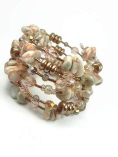 Image result for Peach Memory Wire Bracelets